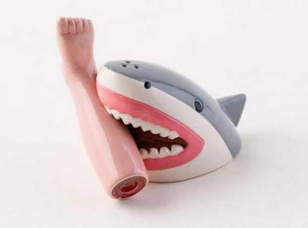 Shark Attack Salt & Pepper Shaker Set