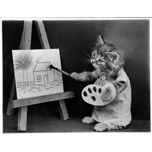Painting Kitten (Image via BuzzFeed)