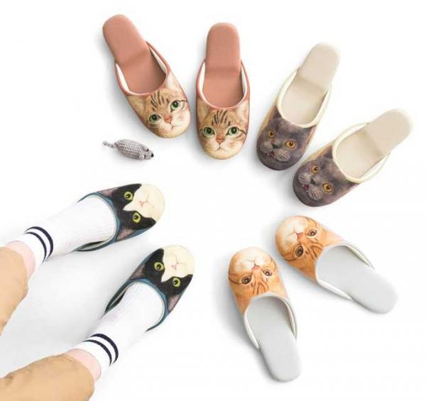 Cat Face Slippers Let You Pussyfoot Around The House
