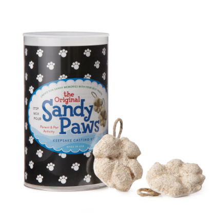 Sandy Paws dog or cat print art plaster