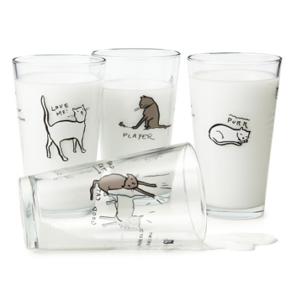 The Tao of Cat drinking glasses