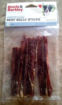 Boots & Barkley American Beef Bully Sticks (this package recalled): image via FDA