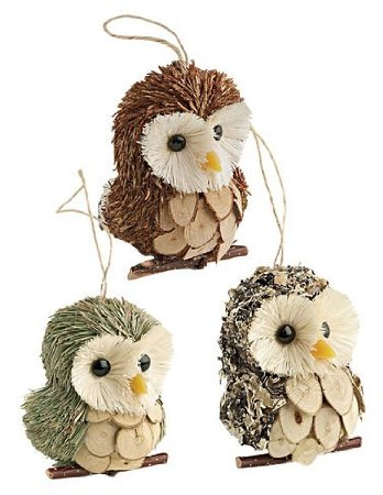 christmas owl ornaments  Rainforest Islands Ferry