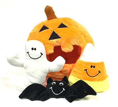 Midlee Pumpkin Find a Toy Halloween Dog Toy