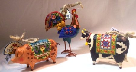 Heartwood Creek Farm Animal Ornaments By Enesco