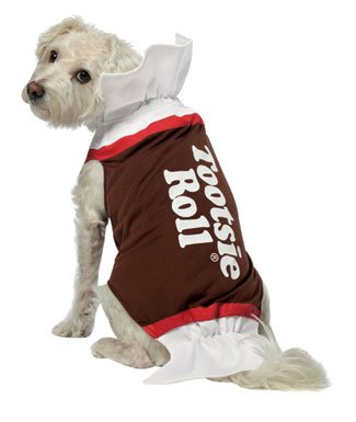 Tootsie Roll dog costume is one of the popular pet costumes in 2012