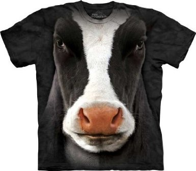 Cow Face T-Shirt by The Mountain