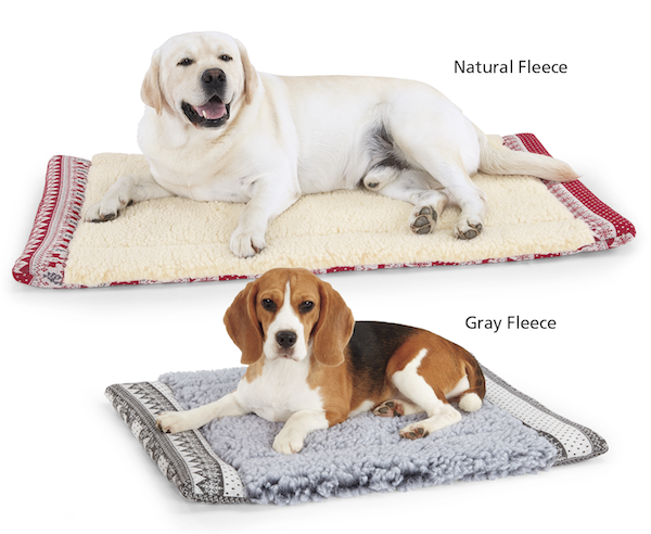 HuggleHounds® HuggleFleece Reversible Nordic Dog Mat