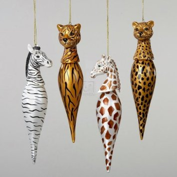Glass Animal Finial Ornaments by Kurt Adler