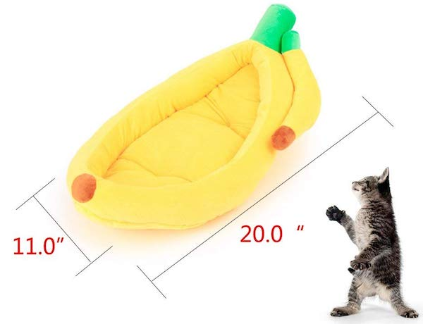 Banana Bed Pet Plush Nest