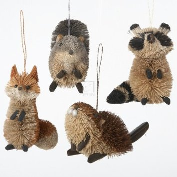 Buri Woodland Animal Ornaments by Kurt Adler