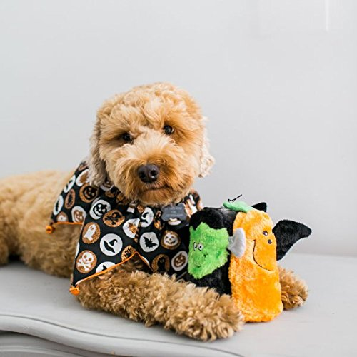 ZippyPaws - 3-Pack Halloween Squeakie Buddies No Stuffing Plush Dog Toy