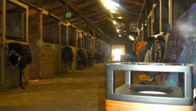 My Pet Speaker in horse stables: by Pet Acoustics