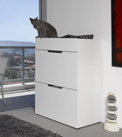The 'Deluxe' Cat Condo: image via dogue.com.au