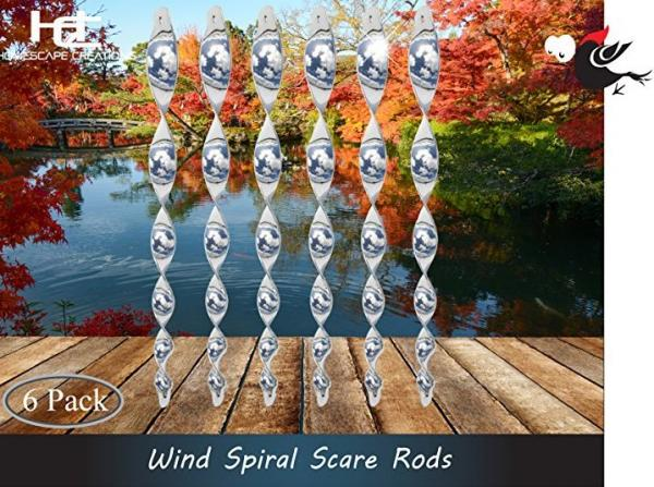 Homescape Creations Bird Repellent Reflective Scare Rods