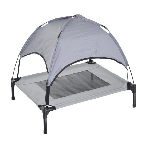 Pawhut Elevated Cooling Bed With Canopy