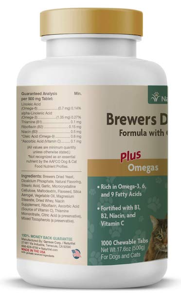 NaturVet Brewer's Dried Yeast Formula with Garlic Flavoring