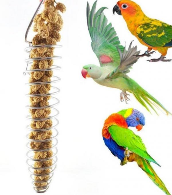 ​Hamiledyi Food/Toy Bird Foraging Holder