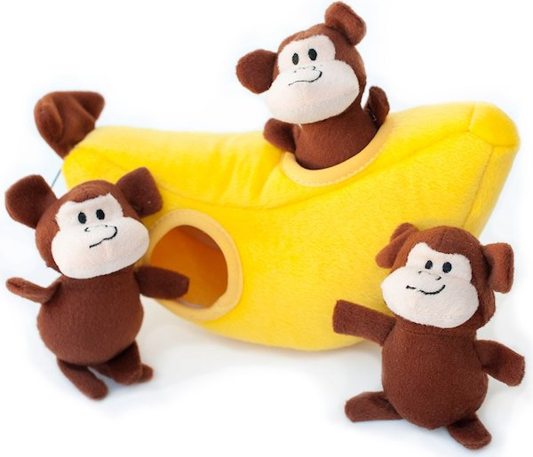 Zippy Paws Burrow Squeaky Hide and Seek Plush Dog Toy