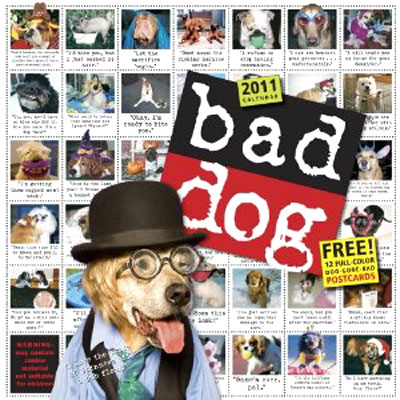 Bad Dog 2011 Wall Calendar