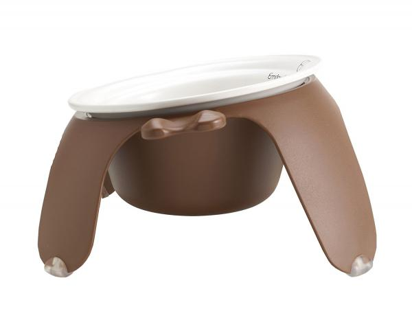 Petego Ergonomic Tulip Dog Bowl inside the Petego Yoga Dog Bowl