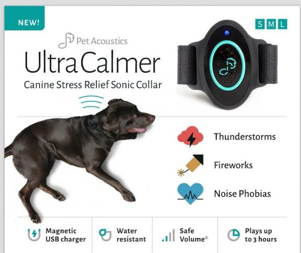 Ultra Calmer Canine Stress Relief Sonic Collar