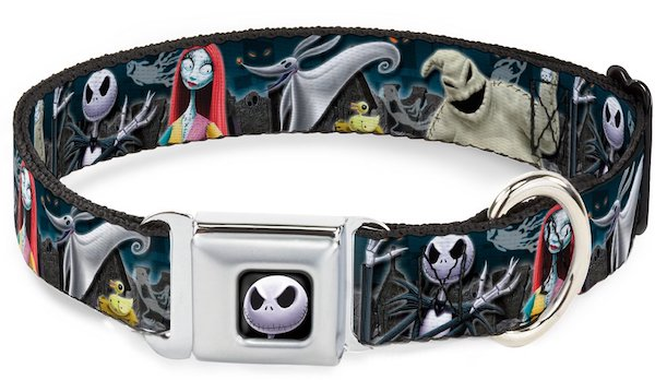 Buckle-Down Seat Belt Nightmare Before Christmas Dog Collar