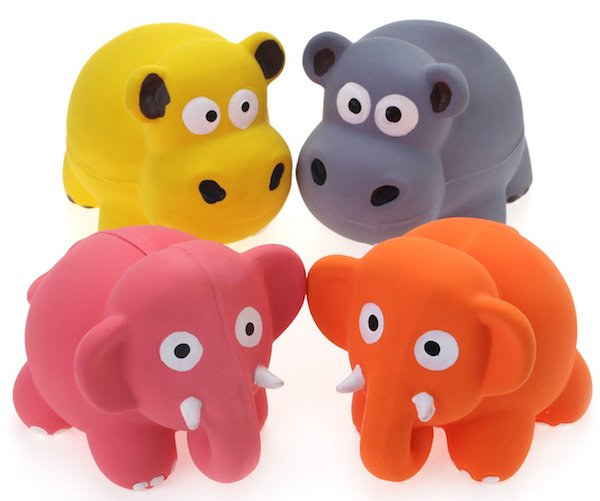 Chiwava Latex Puppy Toy Lovely Elephant/Cow Sets