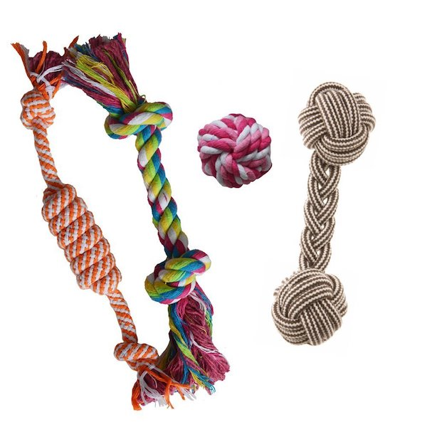 Puppy Chew Teething Rope Toys Set