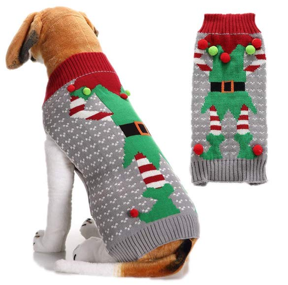 Doggystyle Ugly Dog Sweater: Xmas Elf