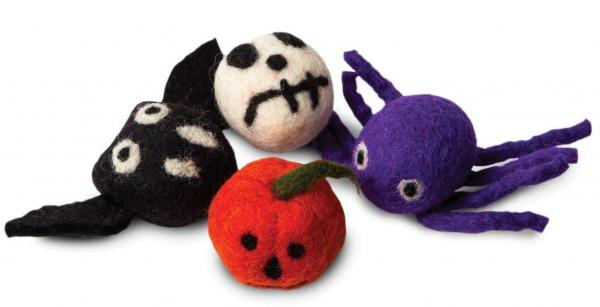 Karma Cat Halloween Wool Cat Toys - 4 pack