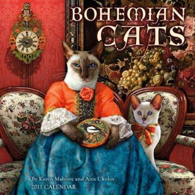Bohemian Cats 2011 Wall Calendar