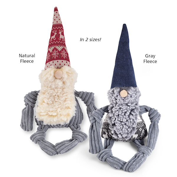 HuggleHounds Nordic Gnome Knottie Tuffut Dog Toy