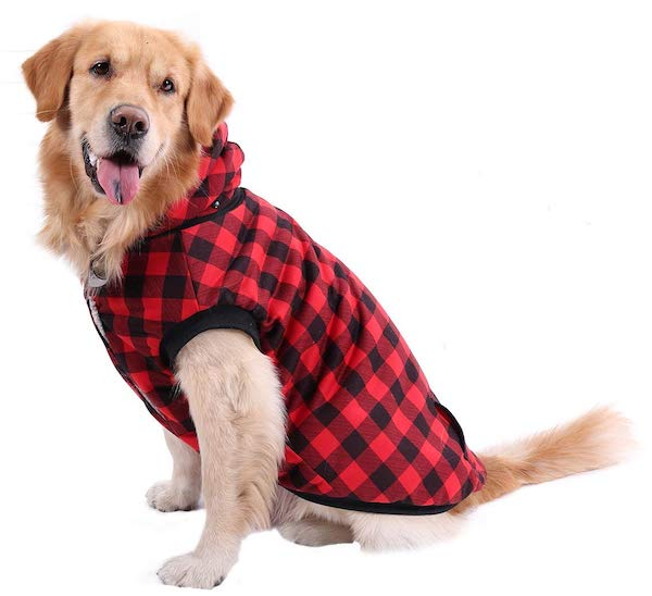 PAWZ Road Dog Plaid Shirt Coat With Hoodie