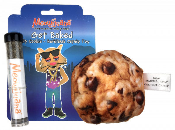 Meowijuana Get Baked Refillable Catnip Cookie Toy