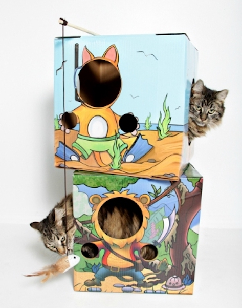 Editor's Choice Finalists In Cat Toys: Kitty Cardboard Designer Boxes for Cats
