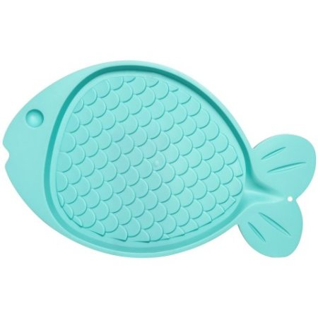 Loving Pets Bella Spill-Proof Fish-Shaped Mat for Cats