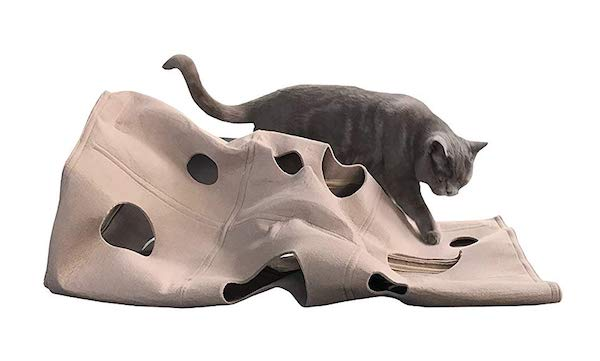 Mindscope Twister Tunnel Flexible Bendable Interactive Cat Activity Play Mat & Cave