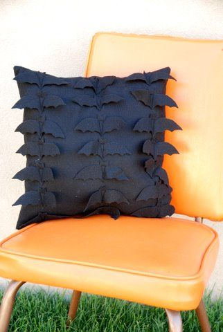 Colony of  Bats Cushion