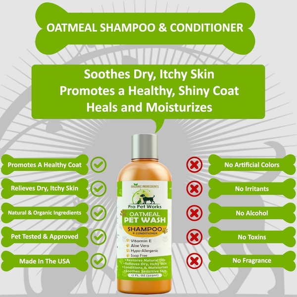 Pro Pet Works Natural Oatmeal Pet Shampoo + Conditioner