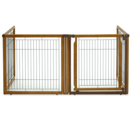 Four panel convertible dog gate/kennel