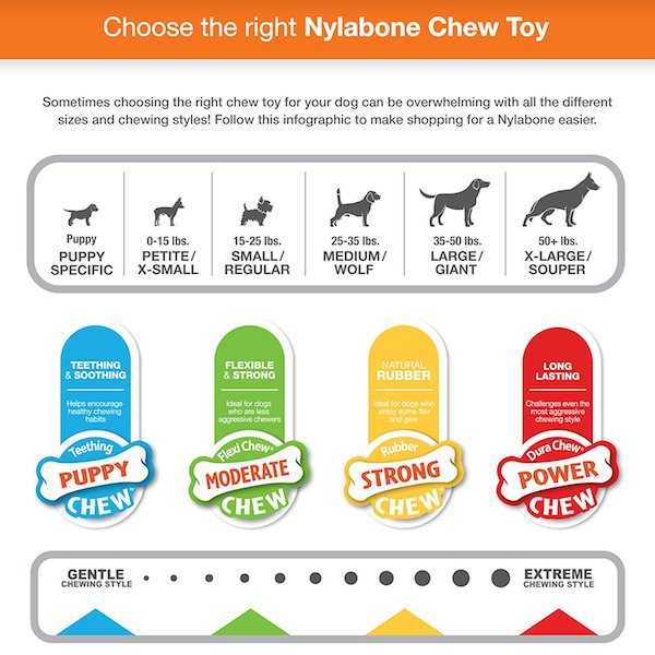 Nylabone chews by size