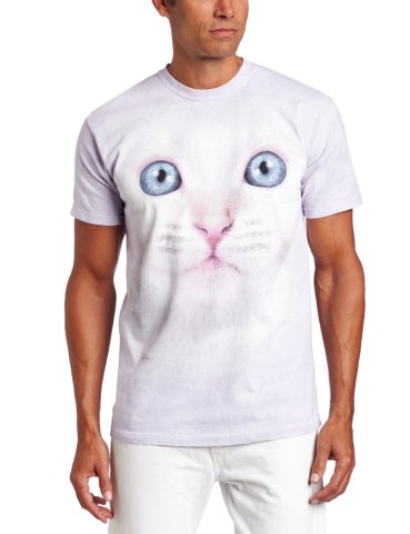 White Kitty Face T-Shirt by The Mountain