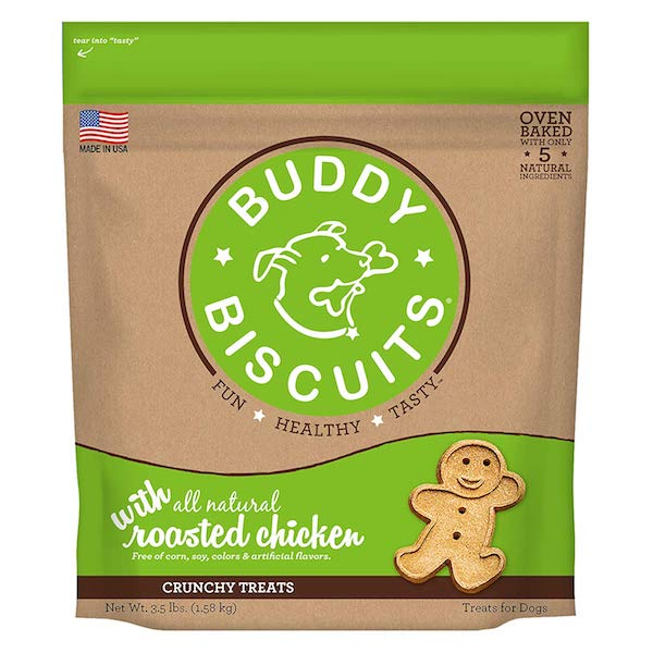 Buddy Biscuits Oven-Baked, Healthy Whole-Grain, Crunchy Treats for Dogs