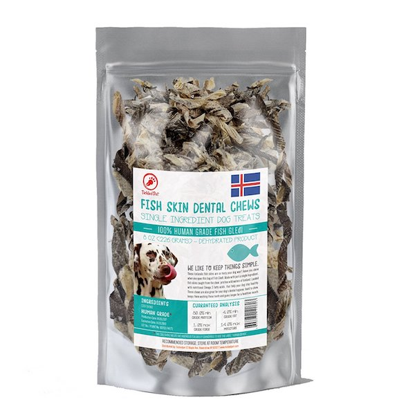 Tickled Pet Icelandic Cod Fish Skin Treats for Dogs