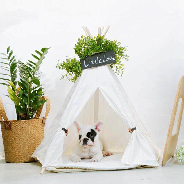 Little Dove Pet Teepee For Small Dogs And Cats
