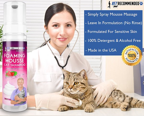 Vet Recommended Waterless Cat Shampoo