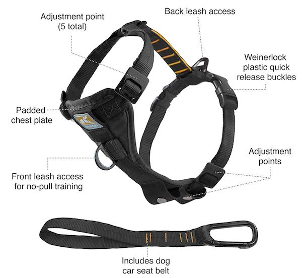 Kurgo Tru-Fit No Pull Dog Harness