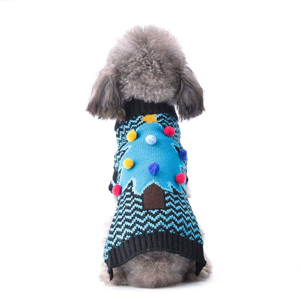 Abrrlo Ugly Xmas Sweater For Dogs: Christmas Tree