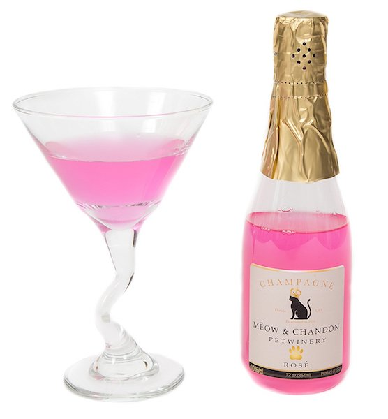 Meow and Chandon rose champagne
